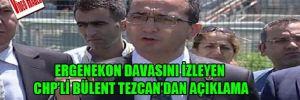Ergenekon davasını izleyen CHP'li Bülent Tezcan'dan açıklama