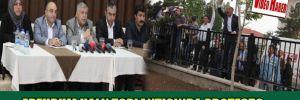 Erzurum halk toplantısında protesto
