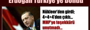 Erdoğan havaalanında açıklama yaptı
