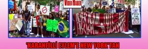 'Karanfilli eylem'e New York'tan uluslararası destek