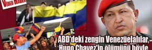 ABD'deki zengin Venezüelalılar, Hugo Chavez'in ölümünü böyle kutladılar!
