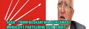 """Acar: """"TBMM Başka'nın açıklaması muhalefet partilerine açık tehdit"""""""