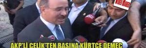 AKP'li Çelik'ten basına Kürtçe demeç