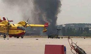 İspanya'da savaş uçağı düştü!