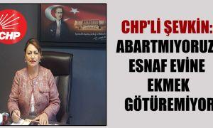 CHP'li Şevkin: Abartmıyoruz; esnaf evine ekmek götüremiyor