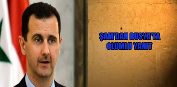 Şam'dan Rusya'ya olumlu yanıt