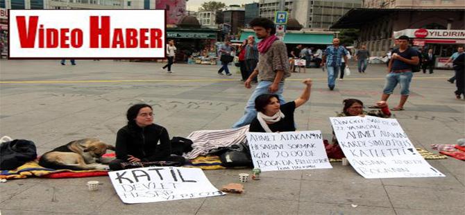 Kadıköy'de Ahmet Atakan eylemi