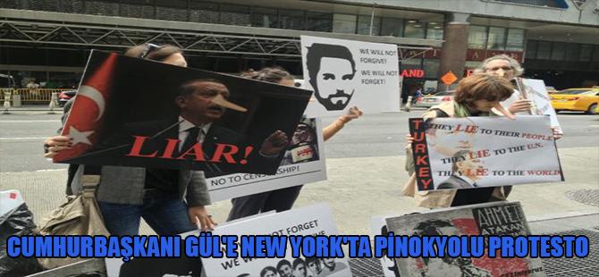 Cumhurbaşkanı Gül'e New York'ta pinokyolu protesto