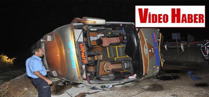 İran plakalı yolcu otobüsü devrildi: 2 ölü, 26 yaralı