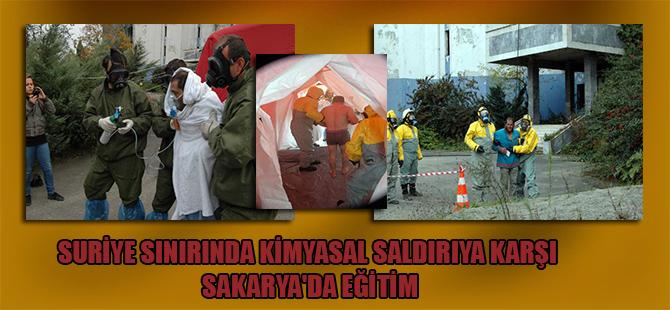 Suriye sınırında kimyasal saldırıya karşı Sakarya'da eğitim