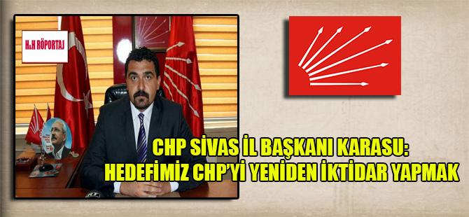 CHP Sivas İl Başkanı Karasu: Hedefimiz CHP'yi yeniden iktidar yapmak
