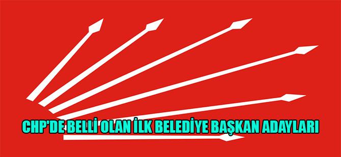 CHP'de belli olan ilk belediye başkan adayları
