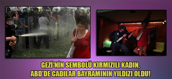Gezi'nin sembolü kırmızılı kadın, ABD'de cadılar bayramının yıldızı oldu!