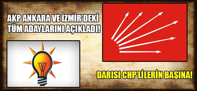 AKP Ankara ve İzmir'deki tüm adaylarını açıkladı! Darısı CHP'lilerin başına!