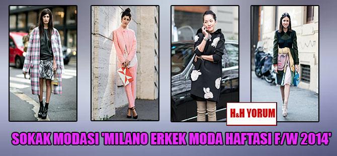 Sokak modası 'Milano erkek moda haftası F/W 2014′