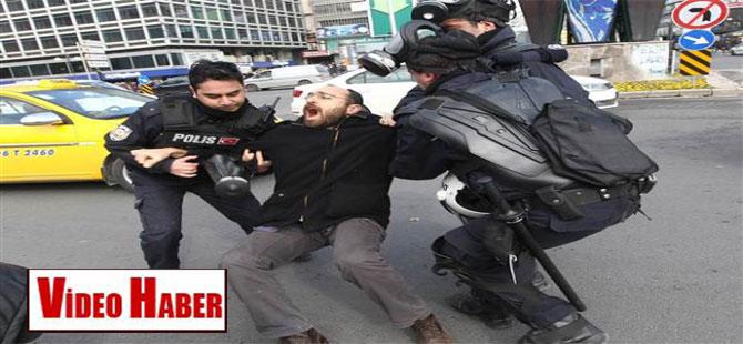 Ankara'da slogan, gaz, SU!
