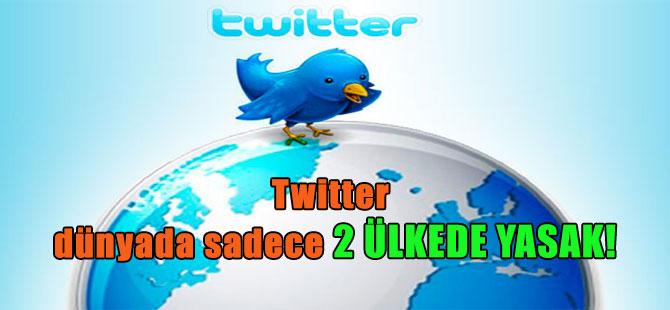 Twitter dünyada sadece 2 ülkede yasak!