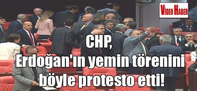 CHP, Erdoğan'ın yemin törenini böyle protesto etti!