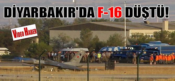 Diyarbakır'da F-16 düştü!