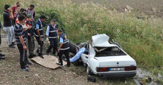 Tarsus'ta kaza: 1 ölü,1 yaralı