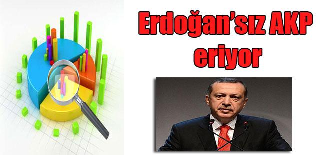 Erdoğan'sız AKP eriyor