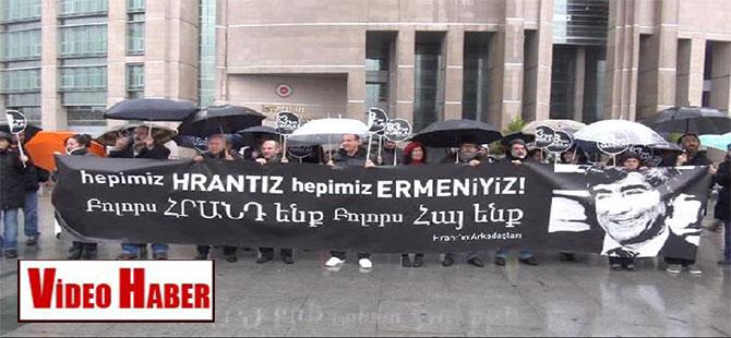 'Hrant'ın arkadaşları'ndan dava öncesi önünde eylem