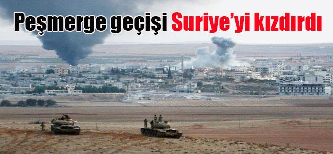 Peşmerge geçişi Suriye'yi kızdırdı