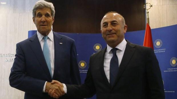 Bakan Çavuşoğlu Kerry ile görüştü
