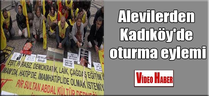 Alevilerden Kadıköy'de oturma eylemi