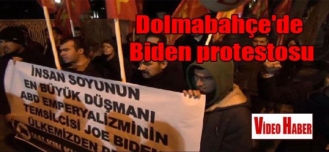 Dolmabahçe'de Biden protestosu