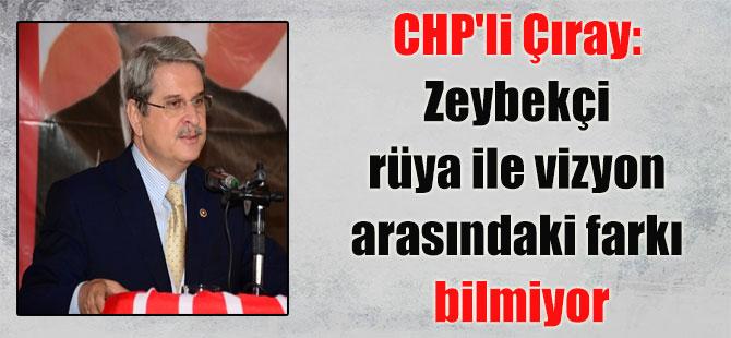 CHP'li Çıray: Zeybekçi rüya ile vizyon arasındaki farkı bilmiyor