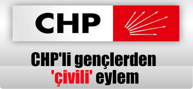CHP'li gençlerden 'çivili' eylem