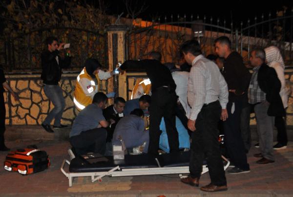 Hastane önünde saldırıya uğradı
