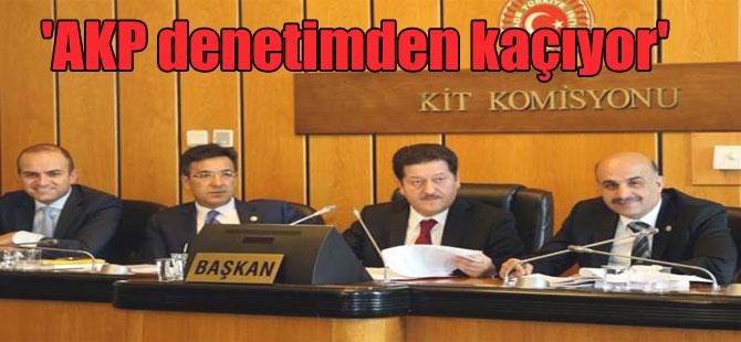 'AKP denetimden kaçıyor'