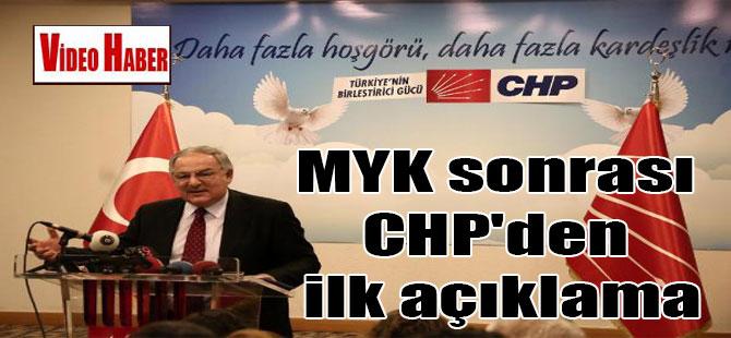 MYK sonrası CHP'den ilk açıklama