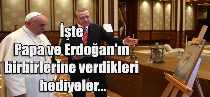 İşte Papa ve Erdoğan'ın birbirlerine verdikleri hediyeler…