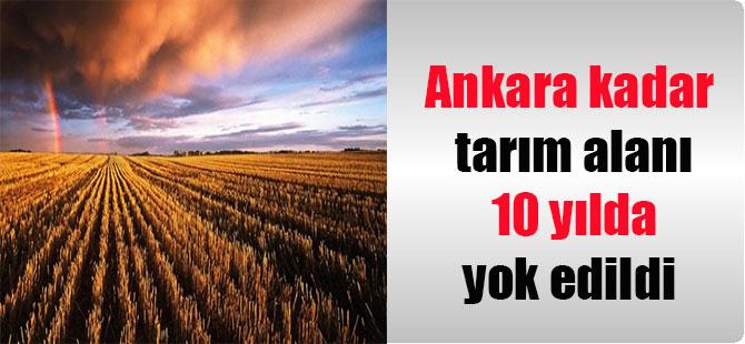 Ankara kadar tarım alanı 10 yılda yok edildi