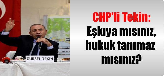 CHP'li Tekin: Eşkıya mısınız, hukuk tanımaz mısınız?