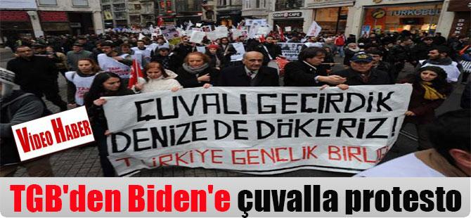 TGB'den Biden'e çuvalla protesto