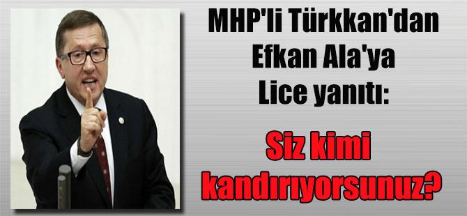 MHP'li Türkkan'dan Efkan Ala'ya Lice yanıtı: Siz kimi kandırıyorsunuz?