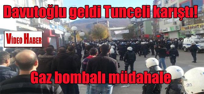Davutoğlu geldi Tunceli karıştı! Gaz bombalı müdahale