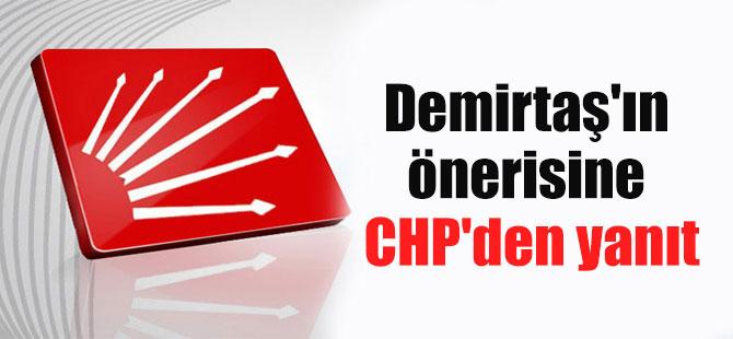Demirtaş'ın önerisine CHP'den yanıt