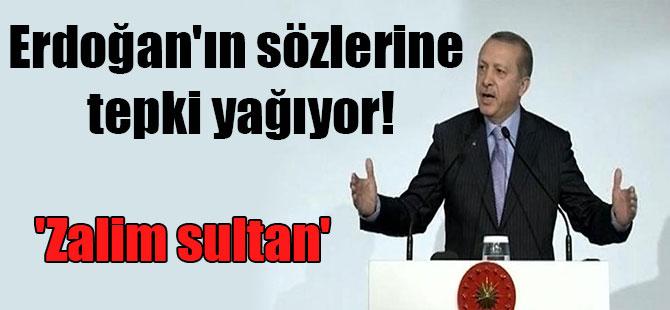 Erdoğan'ın sözlerine tepki yağıyor! 'Zalim sultan'