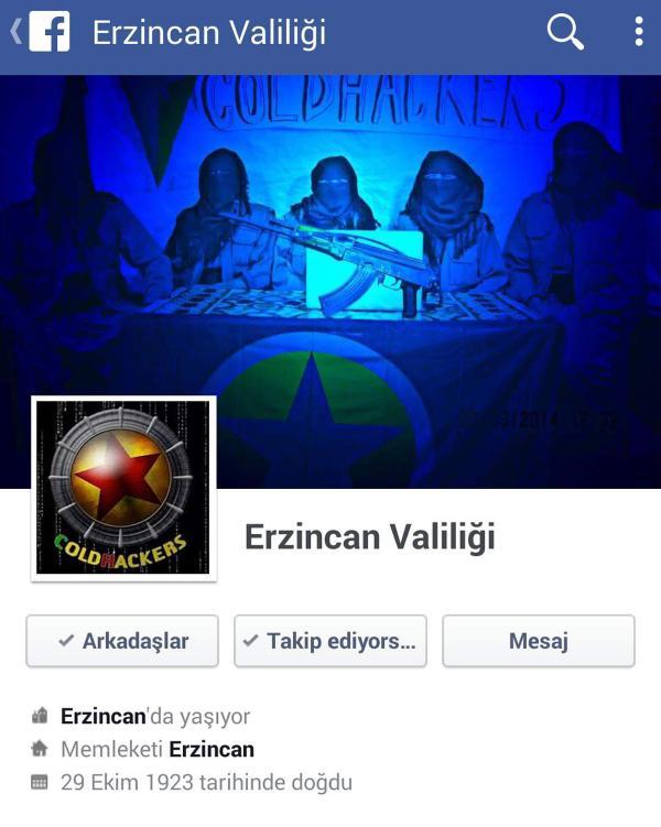 Erzincan Valiliği'ne siber saldırı