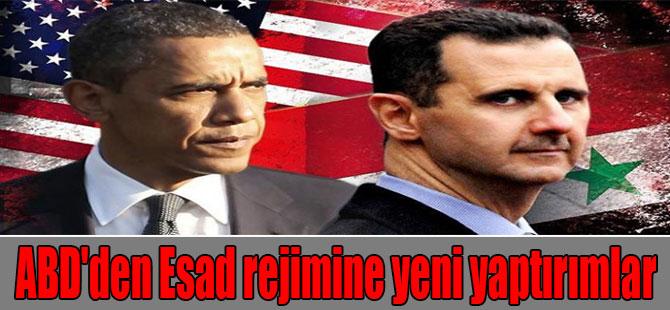 ABD'den Esad rejimine yeni yaptırımlar