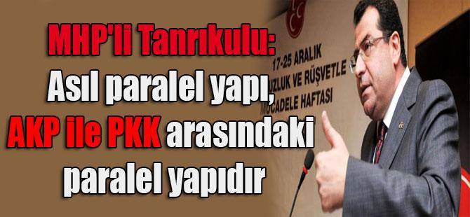 MHP'li Tanrıkulu: Asıl paralel yapı, AKP ile PKK arasındaki paralel yapıdır