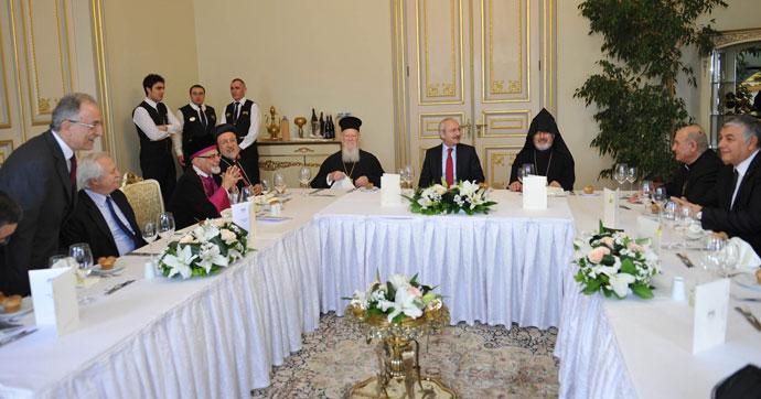 Kılıçdaroğlu dini liderlerle buluştu