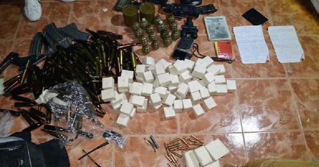 Ele geçirilen silah ve mühimmata 3 tutuklama