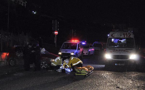 Kağıthane'de feci kaza: 1 ölü, 1 ağır yaralı