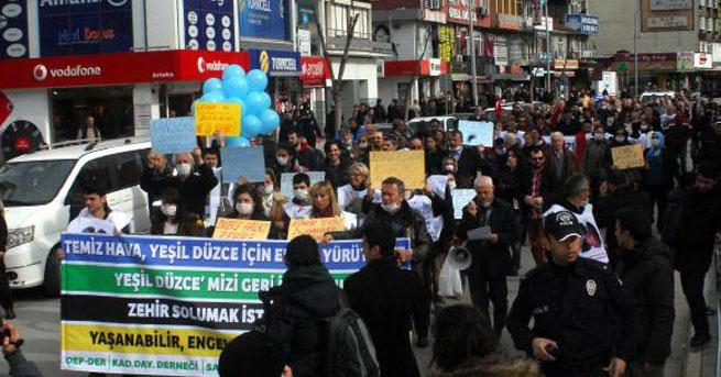 Hava kirliliği protesto edildi
